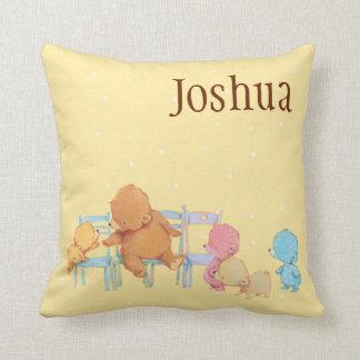Big Brown Bear & Friends Share Four Chairs Cushion