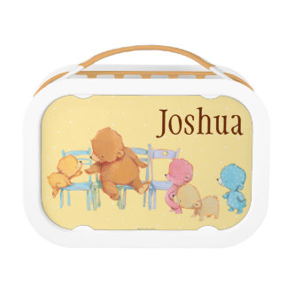 Big Brown Bear & Friends Share Four Chairs Lunchbox