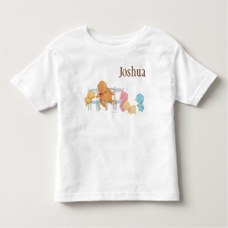 Big Brown Bear & Friends Share Four Chairs Toddler T-Shirt