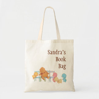 Big Brown Bear & Friends Share Four Chairs Tote Bag