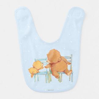 Big Brown Bear Helps Little Yellow Bear Bib