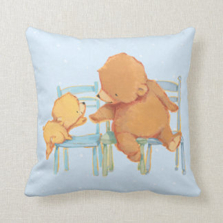 Big Brown Bear Helps Little Yellow Bear Cushion