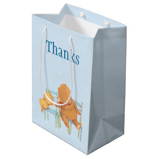 Big Brown Bear Helps Little Yellow Bear Medium Gift Bag