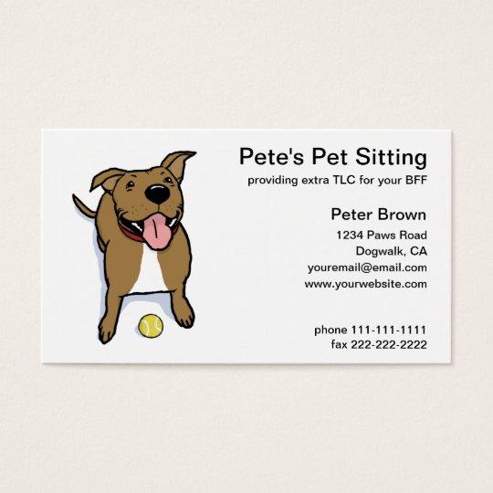 Big Brown Dog Pet Sitting Business Card