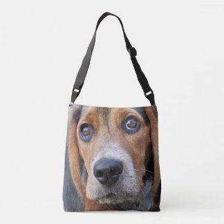 Big Brown Eyed Beagle Puppy Dog Crossbody Bag
