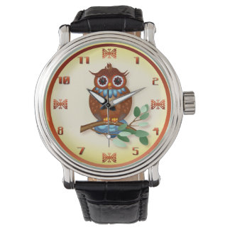 Big Brown Owl Wristwatches