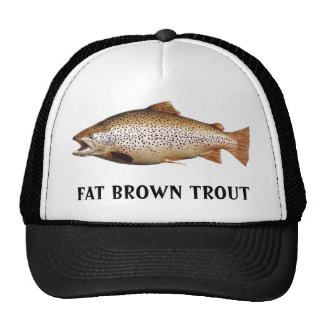 Big Brown Trout Trucker Hats
