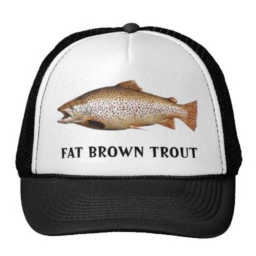 Big Brown Trout Trucker Hats