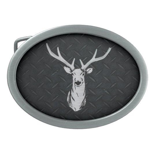 Big Buck Deer Hunting on Diamond Plate Oval