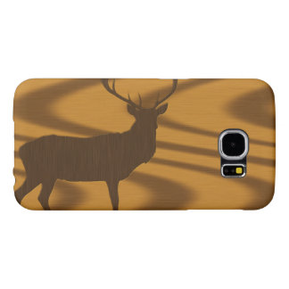 Big Buck Silhouette in Wood Samsung Galaxy S6 Cases