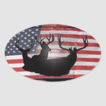 Big bucks and Old Glory Sticker