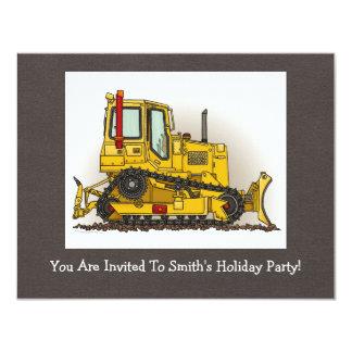 Big Bulldozer Dozer 11 Cm X 14 Cm Invitation Card