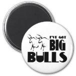 Big Bulls - Funny Farmer 6 Cm Round Magnet
