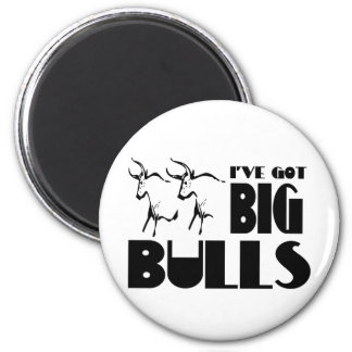 Big Bulls - Funny Farmer Magnet