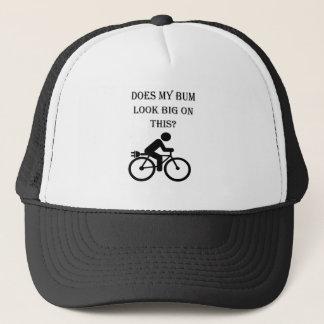 """Big bum"" custom cycling caps"