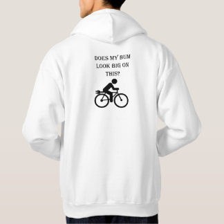 """Big bum"" cycling hoodies for men"