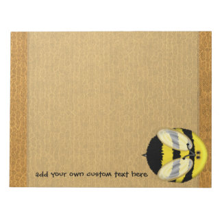 Big Bumble Bee Large Custom Notepad
