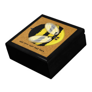 Big Bumble Bee Large Square Gift Box