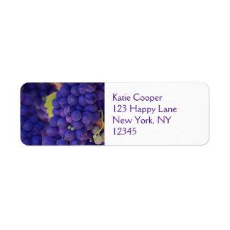 Big Bunch of Juicy Purple Grapes Return Address Label