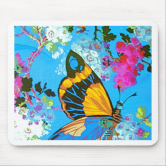 Big Butterfly Line Mouse Pad