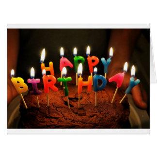 Big Card with Happy Birthday Cake