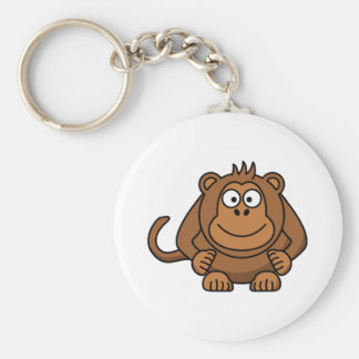 Big Cartoon Monkey Keychain