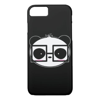 Big Cartoon Panda With Black Framed Square Glasses iPhone 8/7 Case
