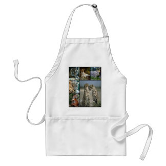 Big Cat collage Standard Apron