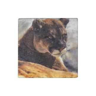 Big Cat Cougar Puma Wildlife Photo Portrait 2 Stone Magnet