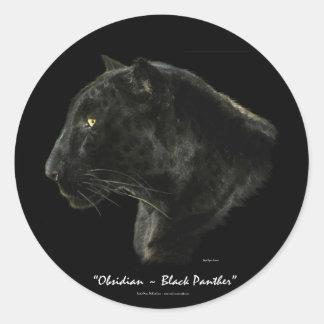 BIG CAT Endangered Species Series Round Sticker