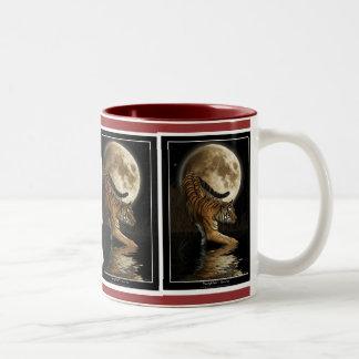 BIG CAT Hunting Tiger Wildlife Drinkware Two-Tone Mug