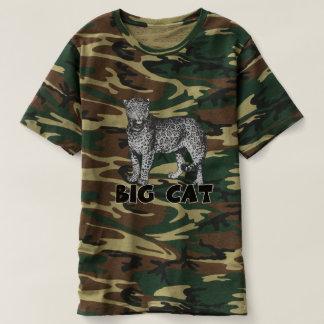 Big Cat Leopard Men's Camouflage T-Shirt