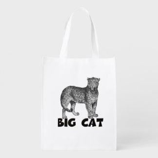 Big Cat Leopard Reusable shopping Bag Grocery Bag