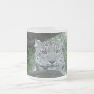 Big Cat Frosted Glass Mug