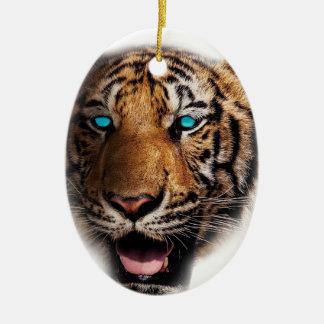 Big Cat Tiger Face Christmas Ornament