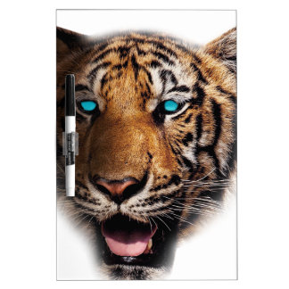Big Cat Tiger Face Dry Erase Board