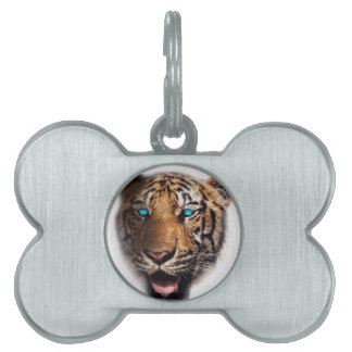 Big Cat Tiger Face Pet ID Tag