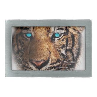 Big Cat Tiger Face Rectangular Belt Buckle