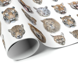 Big Cats 2 Wrapping Paper