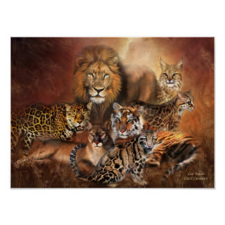 Big Cats Art Poster/Print Poster
