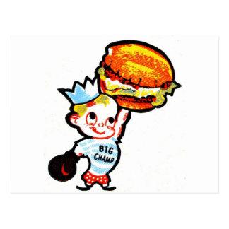 Big Champ Hamburgers Postcard