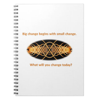Big change through small change photo notebook
