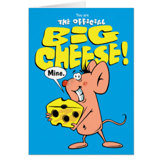 Big Cheese And Mouse Greeting Card