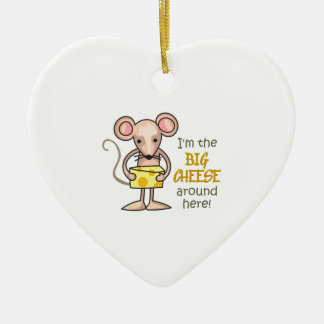 Big Cheese Ceramic Heart Decoration