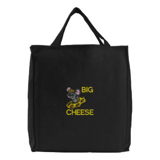 Big Cheese Mouse Embroidered Bag