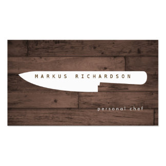Big Chef Knife Logo 4 for Personal Chef, Catering Pack Of Standard Business Cards