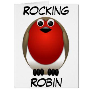 Big Christmas Rocking Robin Big Greeting Card