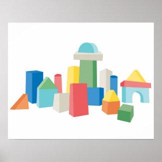 Big City Blocks - Abstract Skyline Poster