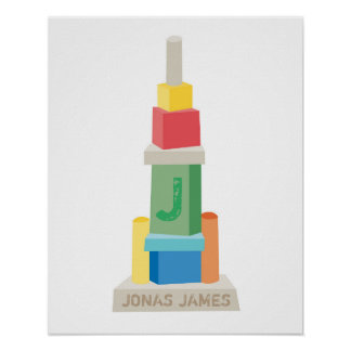Big City Blocks - Personalized Building Poster