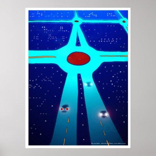 Big city lights poster art/print